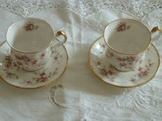 duo tasses anglaises Paragon Victorian roses