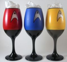 I have to do these for Joe. Let's see if I can get them done before Christmas. I just need Wine glasses and glass paint. Star Trek wine glasses
