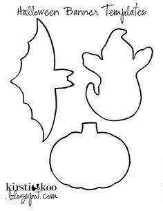 Halloween Cut Out Patterns | You'll need a 9X12 sheet of felt in orange, white and black, (34 cents ...