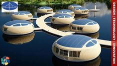 WaterNest Village by Giancarlo Zema for EcoFloLife, floating ecological architecture. Floating Architecture, Futuristic Architecture, Architecture Design, Floating Hotel, Dome House, Geodesic Dome, Ecology, Habitats, House Plans