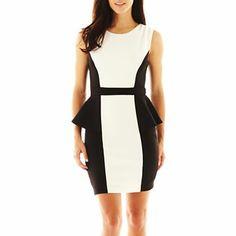 fbf103ca6ea Bisou Bisou® Colorblock Peplum Dress - jcpenney Size 8 Dress