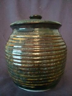 "6"" covered Jar by Angela Graham by AngelaNGraham on Etsy"