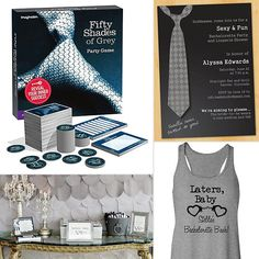 Fifty Shades of Grey Bachelorette Party Theme.