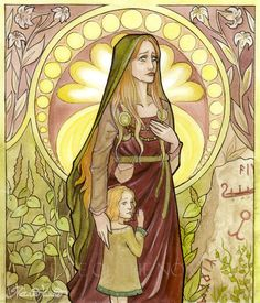 Norse goddess Nanna, mother of Forseti, god of justice and reconciliation, and wife of Baldr.  daughter Nep. After Baldr's death she dies of grief, and her body is placed on Baldr's ship with his corpse and the two are set aflame and pushed out to sea.