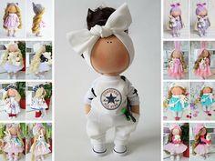 Skateboard doll Tilda doll Handmade doll Muñecas White doll Soft doll Bonita Nursery doll Textile doll Poupée Fabric doll Bambole by Tanya E