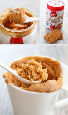 4 Ingredient Cookie Butter Mug Cake | Kirbie's Cravings | A San Diego food & travel blog