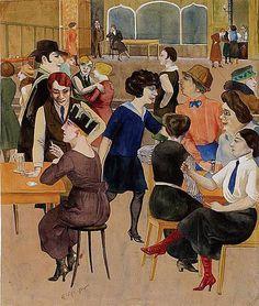 Rudolf Schlichter, Ladies Dive, 1923