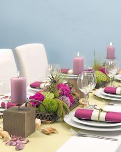 Gr N Pinke Tischdeko Ideen Hochzeit Pinterest