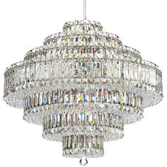 """Schonbek Plaza Collection 27 1/2"""" Crystal Pendant Chandelier ($7,601) ❤ liked on Polyvore featuring home, lighting, ceiling lights, chandeliers, crystal lamps, rectangle chandelier, crystal chandelier lighting, square crystal chandelier and crystal chandelier lamp"""