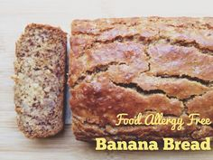 Food Allergy Free Banana Bread - moist and delicious! Vegan Gluten Free Desserts, Gluten Free Muffins, Vegan Food, Paleo, Real Food Recipes, Yummy Food, Healthy Recipes, Vegan Cookbook, Allergy Free Recipes