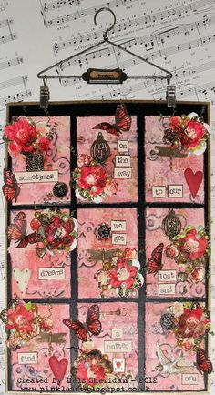 Ink on My Fingers: Recipe Time... Gorgeous Idea to Display ATC's