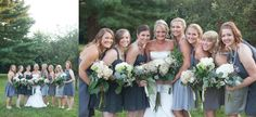 Bridal party images.