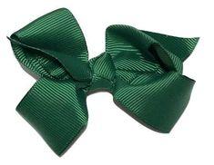 "Hunter green 3.3"" butterfly boutique grosgrain bow"