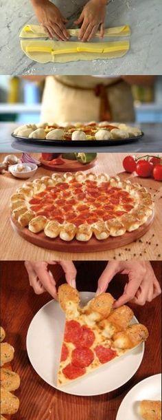 Pizza Cheesy Pop #pizza #pizzacheesypop #comida #culinaria #gastromina #receita #receitas #receitafacil #chef #receitasfaceis #receitasrapidas