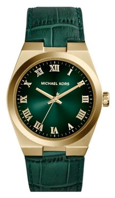 green and gold leather strap watch  http://rstyle.me/n/npex6pdpe
