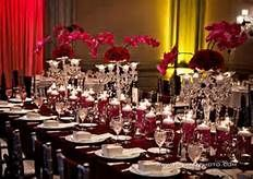 Burgundy And Cream Wedding Reception Red And White Weddings Red Wedding Decorations Wedding Table Settings