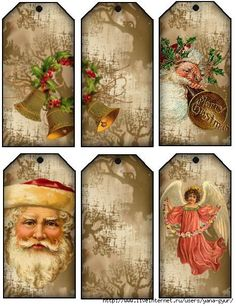 "Christmas labels for Handicraft work ""Female World Christmas Graphics, Noel Christmas, Victorian Christmas, Christmas Gift Wrapping, Christmas Gift Tags, Vintage Christmas Cards, Christmas Pictures, All Things Christmas, Xmas"