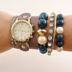 Relógio com couro Marrom.    www.relogiosdadora.com.br
