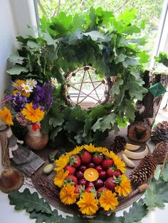 Litha altar 2017 / Midsummer altar Mabon, Samhain, Beltane, Wicca Altar, Pagan Witch, Season Of The Witch, Witch Aesthetic, Aesthetic Rooms, Sabbats