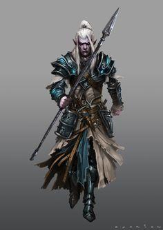 ArtStation - Yzael Gizerae, the drow summoner, Geraud Soulie