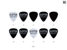 Led Zeppelin Guitar Pick Set 10pcs by LuwanGuitarSupply on Etsy