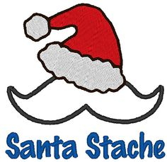 Instant Download Santa Mustache Applique by ChickpeaEmbroidery, $3.75