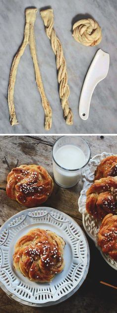 Tips på hur man rullar snyggare kanelbullar – Hemma med Helena Best Dessert Recipes, Sweet Recipes, Just Bake, Swedish Recipes, Home Baking, Piece Of Cakes, Bread Baking, No Bake Cake, Cinnamon Rolls