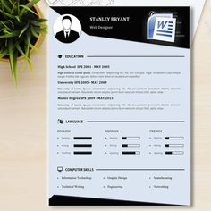 Creative Cv Template Cover Letter References Word Template
