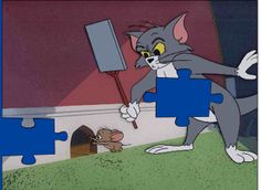 Puzzle Tom and Jerry: Cat vs. Mouse