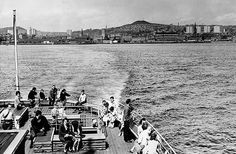 The Dundee skyline in 1966, captured from the Abercraig ferry as it makes the crossing from Fife to Dundee.