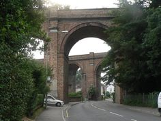 Twin Viaducts between Bournemouth and Poole. Southern Railways, Train Pictures, Bournemouth, George Washington Bridge, Brooklyn Bridge, Old Houses, Bridges, Art Projects, Twin