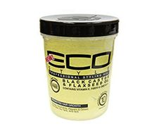 Eco Style Gel Black Castor and Flaxseed Oil, 32 Ounce. Get healthy, strong hair while styling it the way your want with the Eco Style Gel Black Castor and Flaxseed Oil from Eco Style. Leaves hair with a healthy shine and superior hold. Best Natural Hair Products, Natural Hair Tips, Natural Hair Styles, Natural Beauty, Eco Styler Gel, Coily Hair, Hair Gel, Hair Conditioner, Hair Care Tips