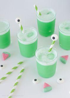 Halloween Watermelon Punch with DIY Eyeball Drink Stirrers