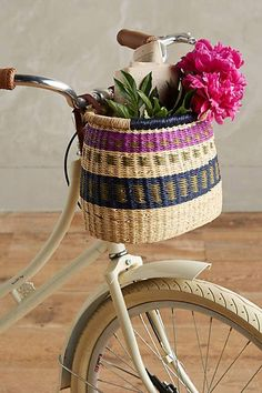 Ghanian Bicycle Basket #anthrofave #anthropologie