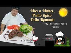"""Mici o Mititei Ricetta tipica della Romania """"Economico Sano e squisito"""" Sub Multi-language - YouTube Romania, Beef, Youtube, Food, Meat, Essen, Meals, Youtubers, Yemek"""
