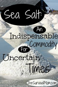 You have food and water, but did you know you might be missing a critical supply? Sea salt is far more than just a flavoring when you cook.  | via www.TheSurvivalMom.com