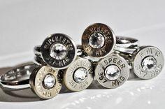 Redneck bullet wedding rings