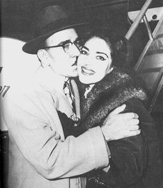 Maria Callas and her father