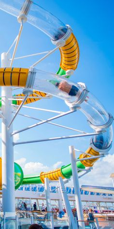 Harmony of the Seas Cruise | Slide into a perfect adventure. Royal Caribbean's Perfect Storm water slides are one onboard thrill you'll want to experience again and again.