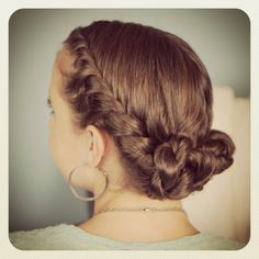 Double Twist Bun Updo Homecoming Hairstyles Cute Girls - Homecoming Hairstyles Girls Haircut Ideas #prom