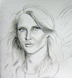 Drawing from pic in fashion mag, 2010