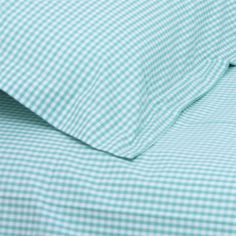 Babyface childrens bedding- Turquoise Gingham Single Duvet Set, also available in junior/ cotbed and double sizes.