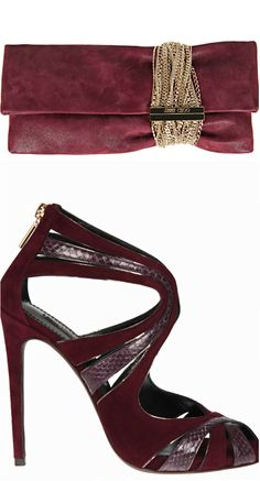 Dolce & Gabbana Suede Sandals ● Jimmy Choo Clutch.