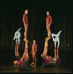 Put A Little Umbrella In Your Drink: Cirque du Soleil Presents Varekai - Eiko Ishioka Circus Art, Circus Clown, Cirque Du Soleil Varekai, Eiko Ishioka, Ste Croix, Ballet Companies, Circus Performers, Cool Costumes, Exotic Pets