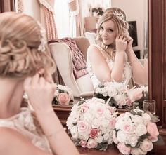 Ray Lockyer Yeovil Wedding Photographer - Our Bride finishing off her preparation at Haselbury Mill
