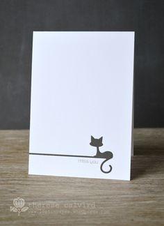 Lostinpaper - Miss You pet sympathy card