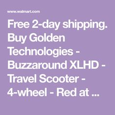 Free 2-day shipping. Buy Golden Technologies - Buzzaround XLHD - Travel Scooter - 4-wheel - Red at Walmart.com Cheap Used Cars, Led Headlights, Red And Blue, Walmart, Technology, Travel, Free, Tech, Viajes