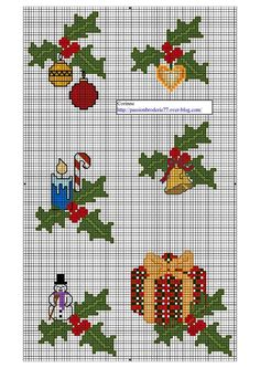 SUPER POINT DE C Page 1 Cross Stitch Christmas Ornaments, Xmas Cross Stitch, Cross Stitch Cards, Christmas Embroidery, Christmas Cross, Cross Stitching, Cross Stitch Embroidery, Cross Stitch Designs, Cross Stitch Patterns