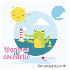 Graphic design, Draw, ilustración, cocodrilo, mar, verano