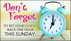 Free Don't Forget eCard - eMail Free Personalized Daylight Saving Ends Cards Online